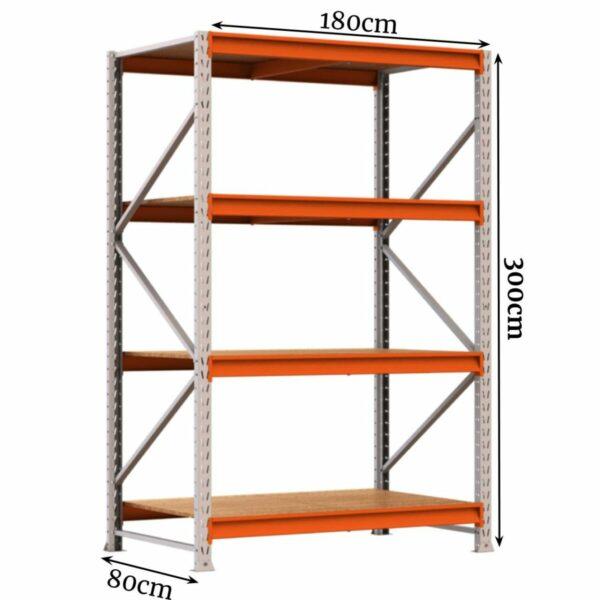 10311646325 Medidas Porta Pallet com 04 Bandejas - 3,00x1,80x0,80cm - AMAPÁ - 11110