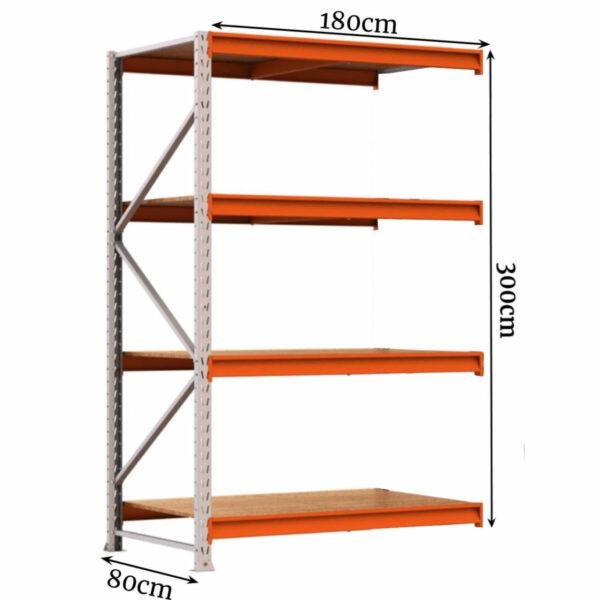 10318064887 parte 5 1 Porta Pallet Complemento com 04 Bandejas 3,00x1,80x0,80cm - AMAPÁ - 11111