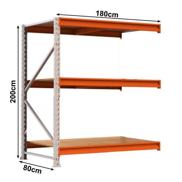 10321117473 medidas 3 Porta Pallet com 03 Bandejas Complemento - 2,00x1,80x0,80cm - AMAPÁ - 11113