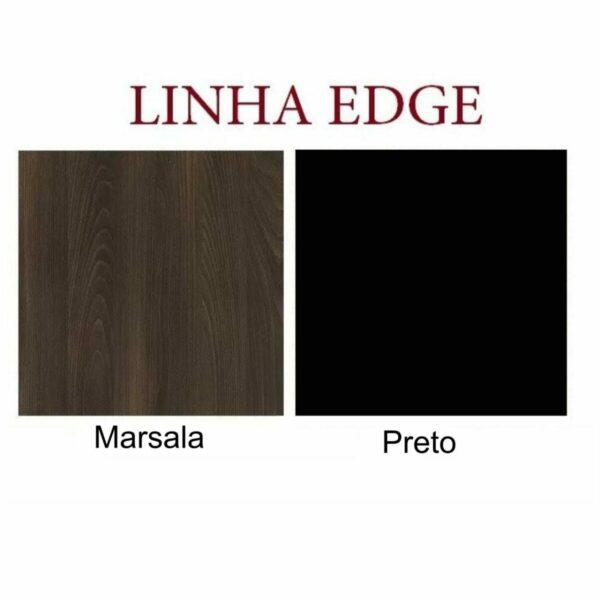 10882148787 EDGE21 Mesa PRESIDENTE EDGE Tampo de Vidro - 2,03X1,80M - MARSALA / PRETO - WORKSTART - 99199
