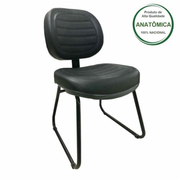 11365000521 31031M2 Cadeira Executiva COSTURADA Base Trapézio - MARTIFLEX - Cor Preta - 31031