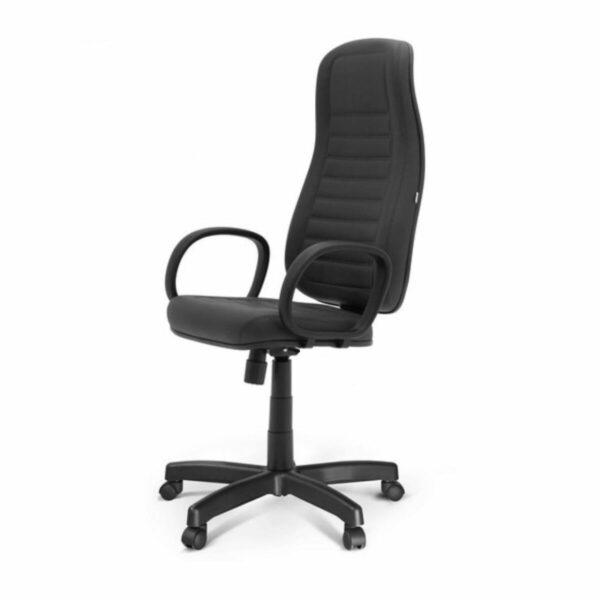 11422338928 lado Cadeira Escritório Presidente ALTA c/ BRAÇO CORSA - COR PRETO -MARTIFLEX - 32958