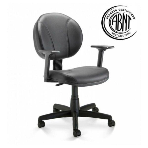 11746367536 32980 1 Cadeira de Escritório Executiva PLUS COSTURADA c/ Braços Reguláveis - 32980