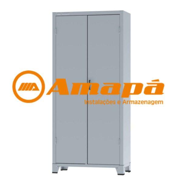12112 LOGO Armário de Aço c/ 02 portas - PA 90 - 1,98x0,90x0,40m - CHAPA # 26 - AMAPA - 12112