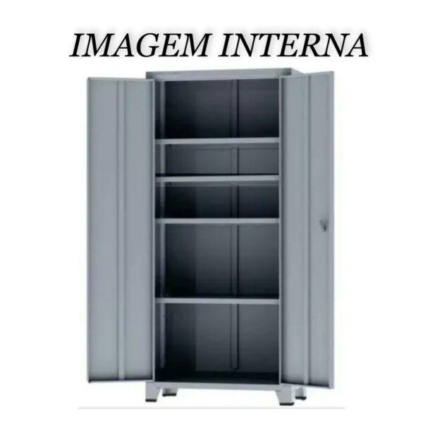 12112 PORTA ABERTA Armário de Aço c/ 02 portas - PA 90 - 1,98x0,90x0,40m - CHAPA # 26 - AMAPA - 12112