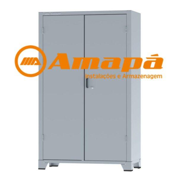 12115 LOGO Armário de Aço c/ 02 portas REFORÇADO - PA 120 - 1,98x0,1,20x0,40m - CHAPA # 22 - AMAPA - 12115