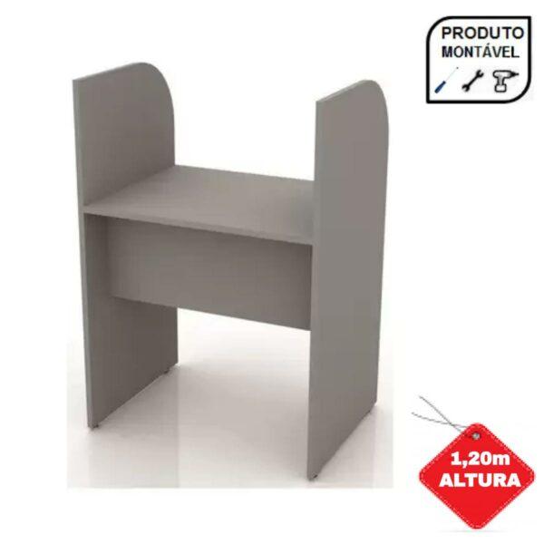24010 CAPA 1 Baia INICIAL para Atendimento 1,20x0,80x0,60m - MARANELO - CINZA/CINZA - 24010