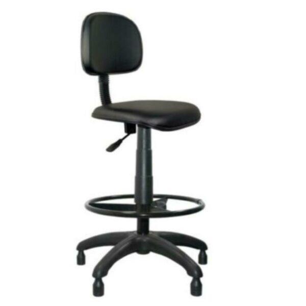 35003 1 Cadeira CAIXA Secretária Aranha PLAXMETAL - Cor Preta - MARTIFLEX - 34021