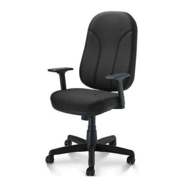 4 1 Cadeira para Escritório PRESIDENTE PLUS c/ Braços REGULÁVEIS - TECIDO PRETO - PLAXMETAL - 32959