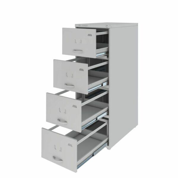 5299916920 ARQUIVO1 1 Arquivo de Aço 04 Gav - (60cm) - CHAPA # 26 - TRILHO TELESC - 1,33x0,47x0,60m - CZ/CZ - AMAPA - 13103