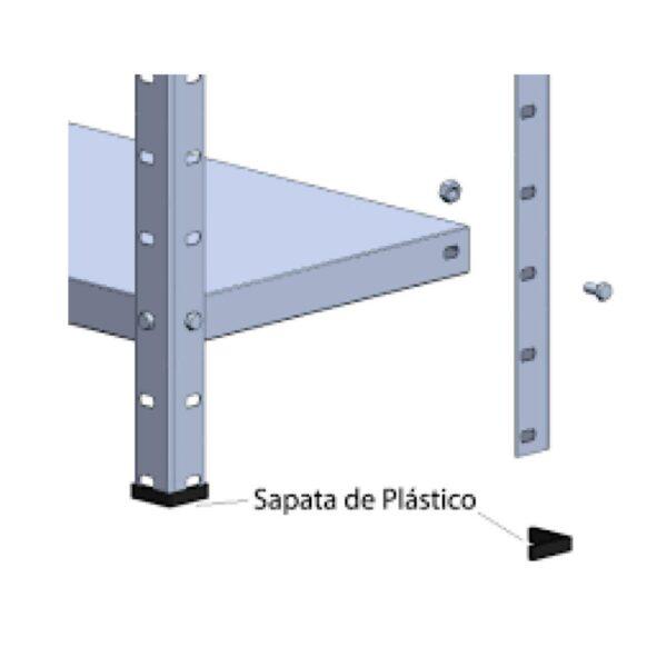 7889539308 montagem estante1 2 Estante de Aço com 06 Bandejas 40 cm (26/20) - 1,98x0,92x0,40m - AMAPA - 11104