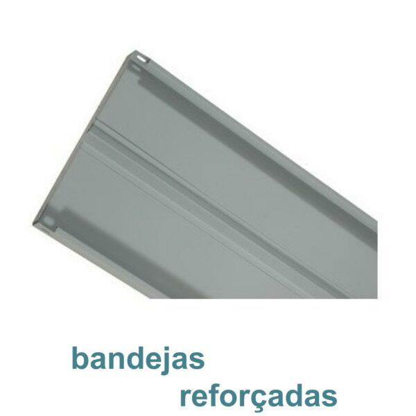 7889539362 bandeja reforcada 2 Estante de Aço com 06 Bandejas 40 cm (26/20) - 1,98x0,92x0,40m - AMAPA - 11104