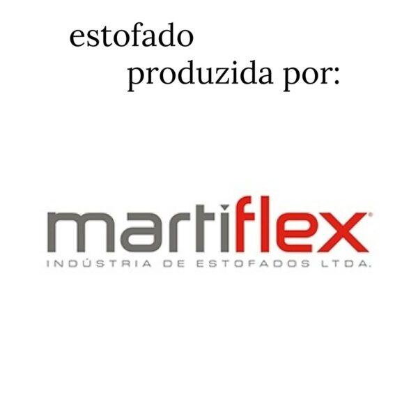 7958668028 logo.martiflex 4 Cadeira Executiva COSTURADA Base Trapézio - MARTIFLEX - Cor Preta - 31031