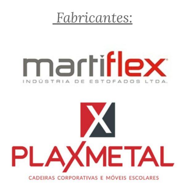 7966623969 Fabricante.Martiflex.Plaxmetal 2 Cadeira B-ONE Back System com Braços Reguláveis - Cor Preta - MARTIFLEX - 31010