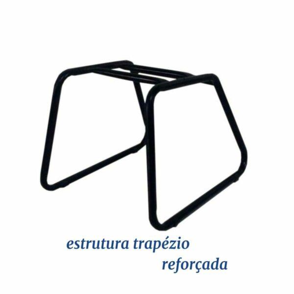 7984994450 Desenho20sem20titulo Cadeira Executiva COSTURADA Base Trapézio - MARTIFLEX - Cor Preta - 31031