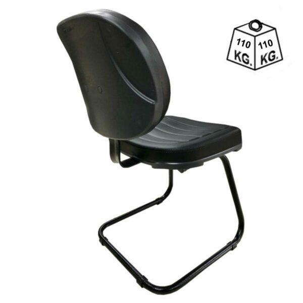 """7986335867 Peso Cadeira Executiva Costurada Base em """"S"""" PRETA - Cor Preta - MARTIFLEX - 31014"""