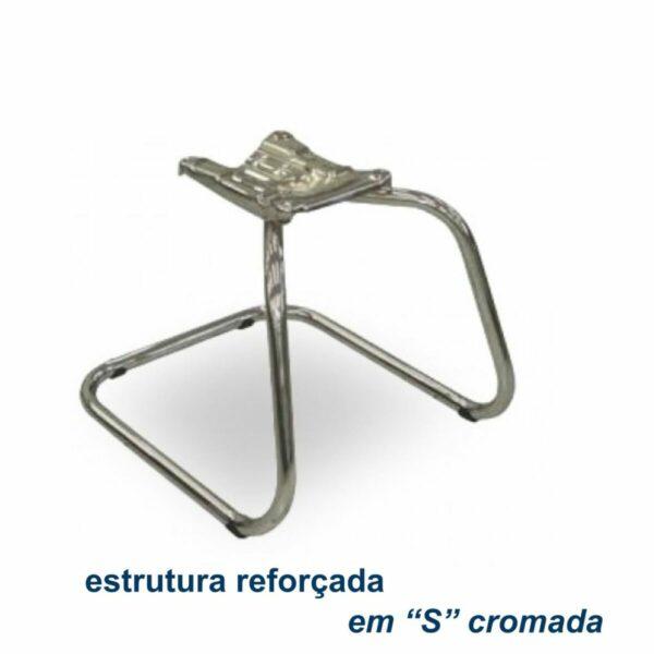 """7986934953 BAse Cadeira Escritório B-ONE Base em """"S"""" CROMADA - MARTIFLEX - 31033"""