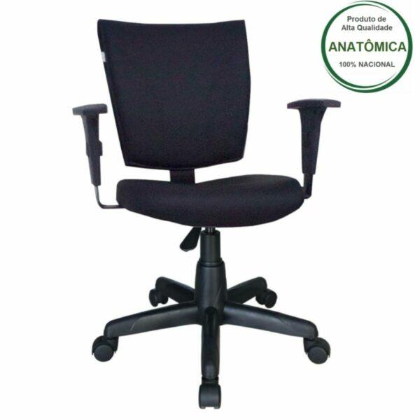 7987667730 Principal Cadeira B-ONE Giratória com Braços Reguláveis - Cor Preta - MARTIFLEX - 31009