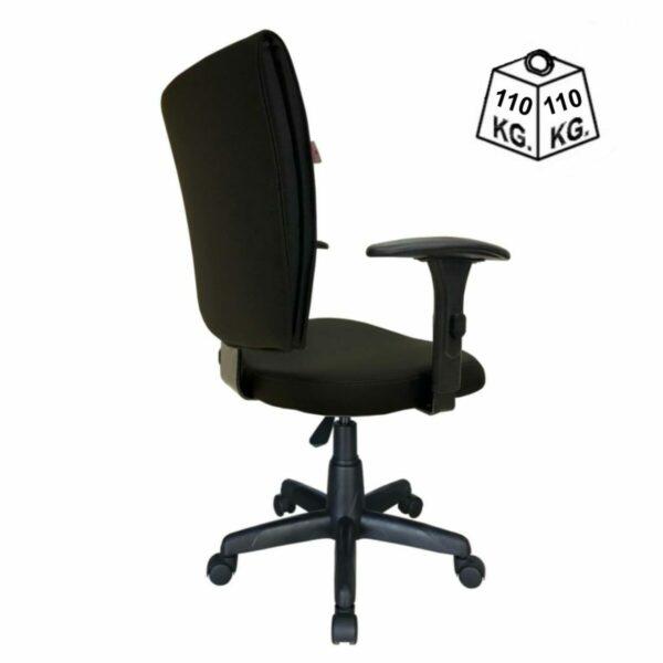 7988678928 b one costas teste Cadeira B-ONE Giratória com Braços Reguláveis - Cor Preta - MARTIFLEX - 31009
