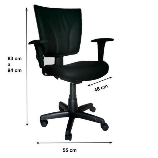 8004331553 Desenho20sem20titulo203 Cadeira B-ONE Back System com Braços Reguláveis - Cor Preta - MARTIFLEX - 31010