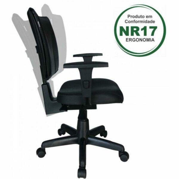 8004332965 ergo Cadeira B-ONE Back System com Braços Reguláveis - Cor Preta - MARTIFLEX - 31010