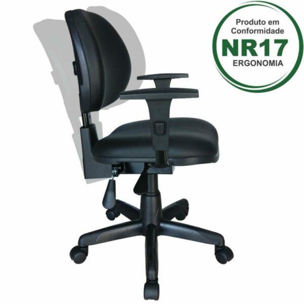 8005817385 Desenho20sem20titulo Cadeira Executiva Back System Lisa c/ Braços reguláveis - Cor Preta - MARTIFLEX - 31006