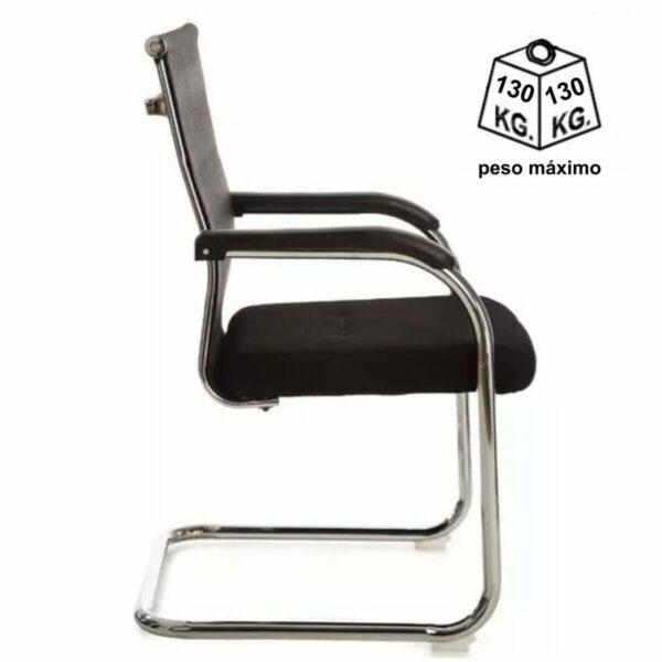 8009919267 Desenho20sem20titulo 1 Cadeira Interlocutor Tela OR-3312 (Fixa) Cromada - Cor Preta - 31018