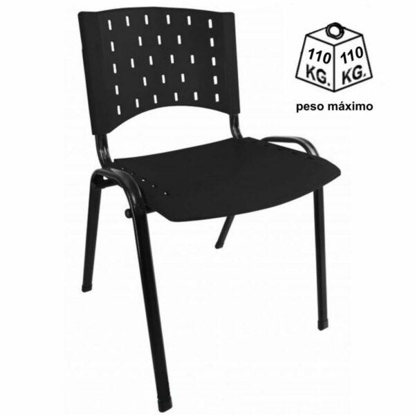 8010779136 peso Cadeira Plástica REALPLAST 04 pés-Plástico Preto (Polipropileno) - 31201