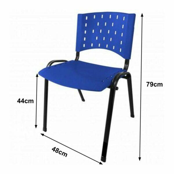 8011276521 45583090 2GG2 Cadeira Plástica 04 pés - Plástico AZUL - REALPLAST - 31281