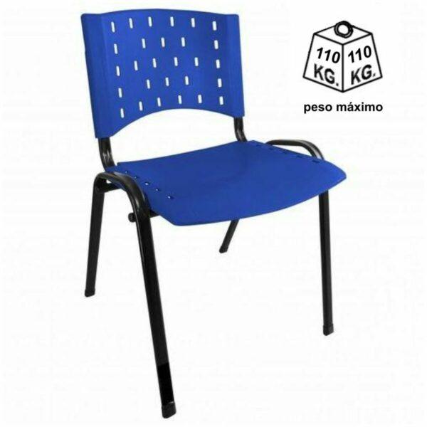 8011321324 45991215 1GG Cadeira Plástica 04 pés - Plástico AZUL - REALPLAST - 31281