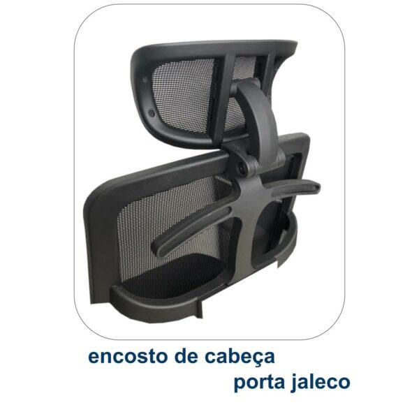 8021539533 ecosto 3 Poltrona Presidente Tela MK-4007 - Cor Preta - MAKKON - 30004
