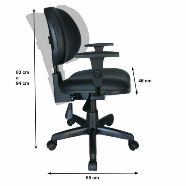 8062942965 backsystem Cadeira Executiva Back System Lisa c/ Braços reguláveis - Cor Preta - MARTIFLEX - 31006
