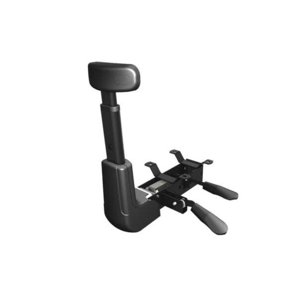 8063240804 base backsystem1 4 Cadeira Executiva Back System COSTURADA - ARANHA CROMADA - Braços Reguláveis - Cor Preta - MARTIFLEX - 31011