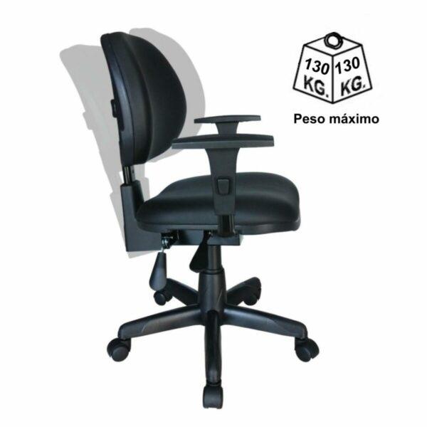 8063284385 back system peso Cadeira Executiva Back System Lisa c/ Braços reguláveis - Cor Preta - MARTIFLEX - 31006