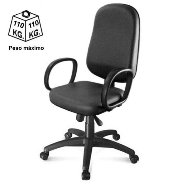 8164269834 Peso 1 Cadeira Presidente BAIXA LISA ( BRAÇO CORSA ) - COR PRETA - MARTIFLEX - 30101
