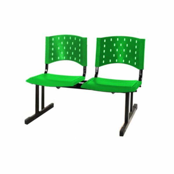 8206261385 Sem20titulo Cadeira Longarina PLÁSTICA 02 Lugares - Cor Verde - REALPLAST - 33068