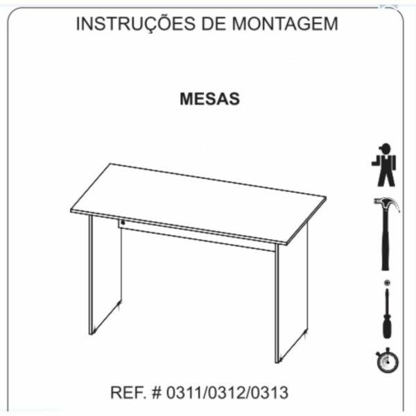 8429466726 mesa Mesa Escritório 1,70x0,70m -S/ Gavetas - GEBBWORK - NOGAL SEVILHA/PRETO - 21474