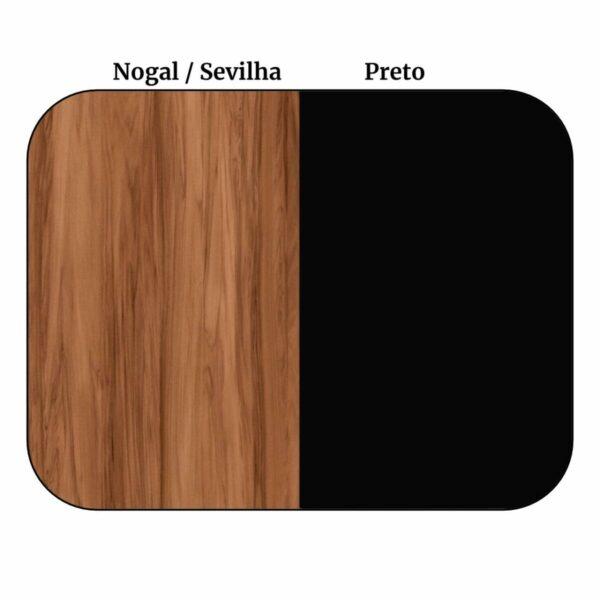 8554659191 Cor Armário Baixo 03 Gavetas e Porta (MISTO) - WORK START - NOGAL SEVILHA/PRETO - 21422