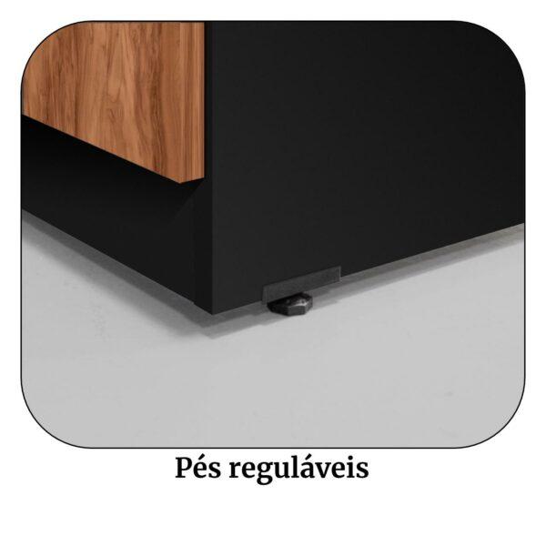 8563377423 Pes 2 Arquivo 04 Gavetas Pasta Suspensa - 1,28x0,46x0,45m - WORK START - NOGAL SEVILHA/PRETO - 21410