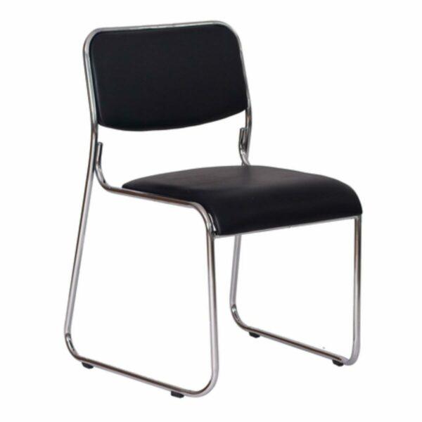 8592815101 Dakar Cadeira de Escritório Fixa Cromada DAKAR - COR PRETO - 31100