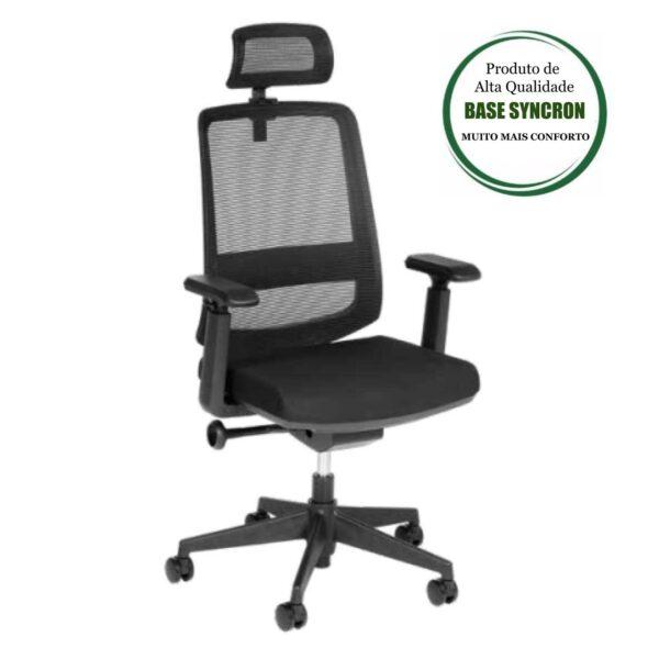 9250896394 PRINCIPAL 2 Cadeira Presidente Tela TUNE Home Office C/ Encosto de Cabeça - AVANTTI - 32993