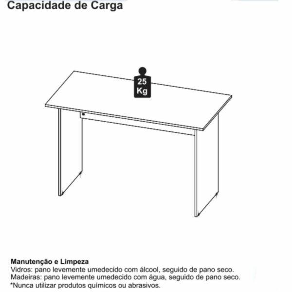 9743393740 4 Mesa Escritório 1,20x0,60m - C/ 02 Gavetas - WORKSTART - MARSALA / PRETO - 23471