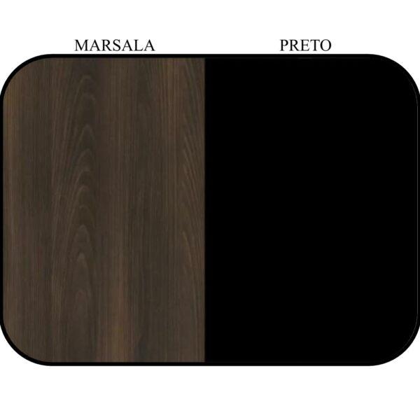 "9748640828 cor 1 Mesa em ""L"" (Mesa 1,70m + Mesa Auxiliar) - C/ 02 GAVETAS - WORKSTART - MARSALA / PRETO - 23479"