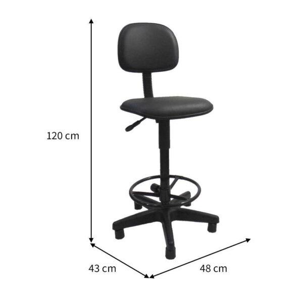 IMG 1074 Cadeira CAIXA Secretária Aranha PLAXMETAL - Cor Preta - MARTIFLEX - 34021