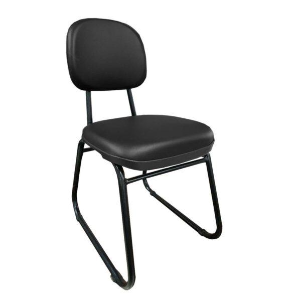 cadeira Cadeira Secretária Trapézio - Corino Preto - MARTIFLEX - 31103