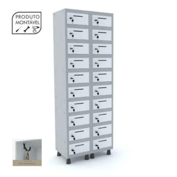 9931517321 Armario20Postal Armário Caixa Postal 1,94x0,69x0,40m - Cor Cinza - PANDIN - 10011