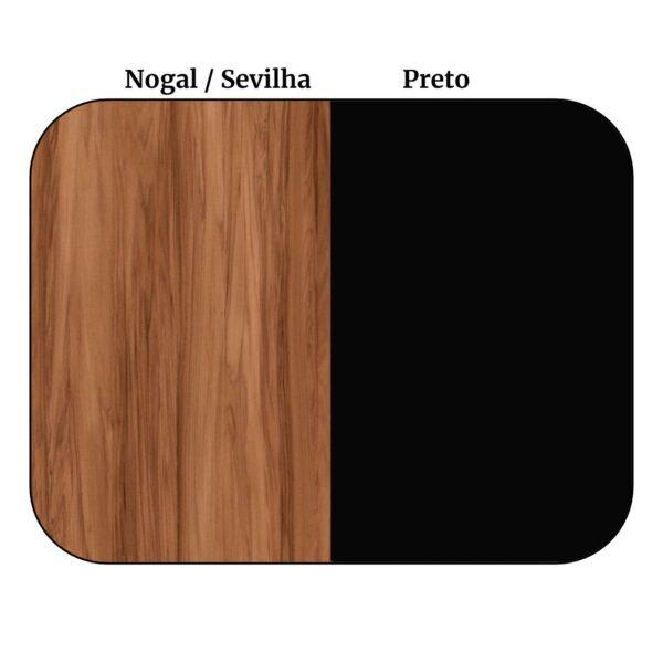 12830225218 1 Aparador de Madeira 1,20x0,80x0,35 - NOGALSEVILHA/PRETO - 21436