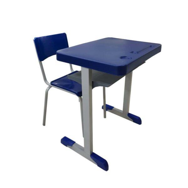 13048360653 Mesa cadeira Kit Escolar Individual – (Mesa e Cadeira) – INFANTIL 02 a 06 Anos – REALPLAST - 41089