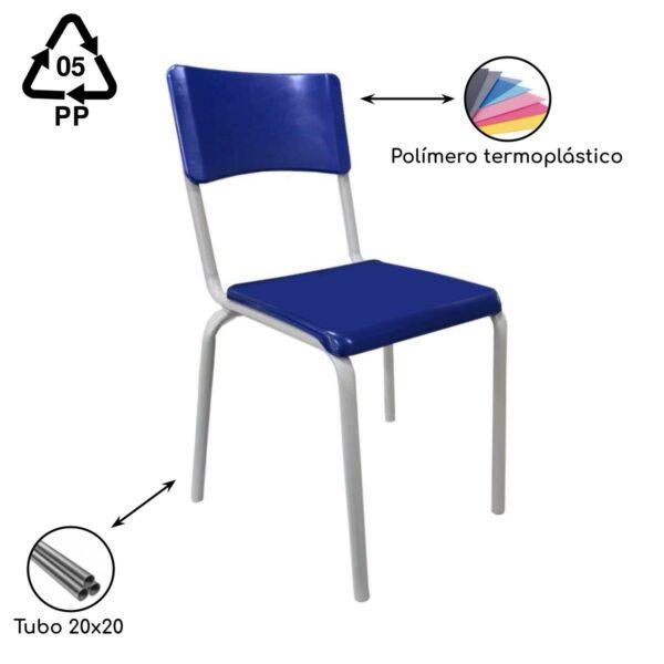 13050039433 Metalon Kit Escolar Individual – (Mesa e Cadeira) – INFANTIL 02 a 06 Anos – REALPLAST - 41089