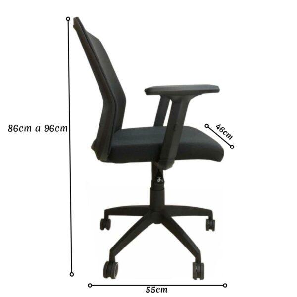 13966911069 Desenho20sem20titulo208 Cadeira Escritório Giratória Tela MEET - Cor Preta - AVANTTI - 33124